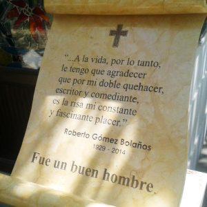 La tumba de Chespirito